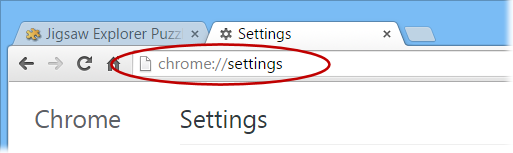 Chrome Options Page