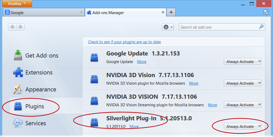 How to Ensure Silverlight is Enabled