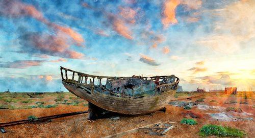 Abandoned Boat Jigsaw Puzzle