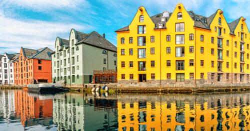 Alesund Waterfront Jigsaw Puzzle