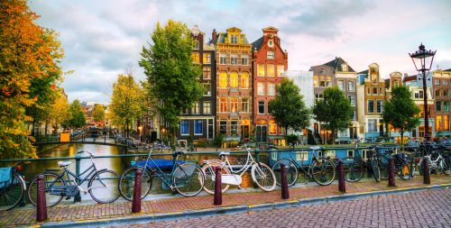 Amsterdam Bicycles Jigsaw Puzzle