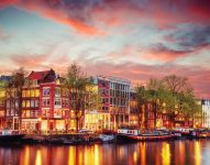Amsterdam Evening Jigsaw Puzzle