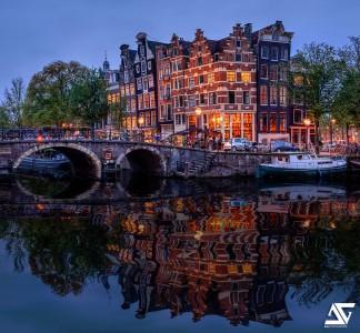 Amsterdam Reflection Jigsaw Puzzle