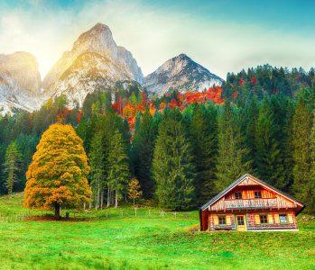 Austrian Cabin Jigsaw Puzzle