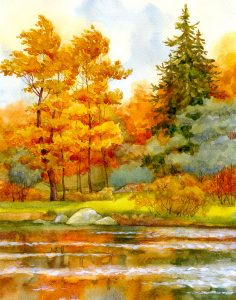 Autumn Lake Jigsaw Puzzle