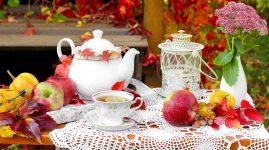 Autumn Tea Setting
