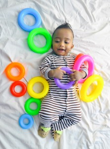 Baby and Rings Jigsaw Puzzle