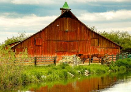 Barn and Creek Jigsaw Puzzle