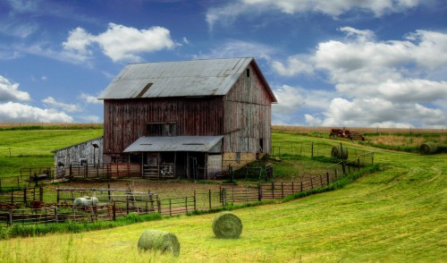 Barn and Hay Jigsaw Puzzle