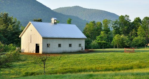 Barn and Mountains Jigsaw Puzzle