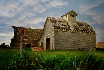 Barn and Pump Jigsaw Puzzle