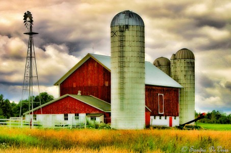 Barn and Windmill Jigsaw Puzzle