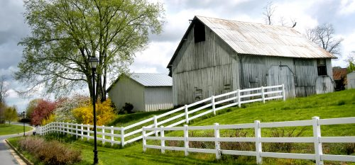 Barns on a Hill Jigsaw Puzzle