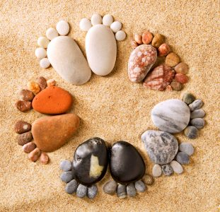 Beach Footprints Jigsaw Puzzle