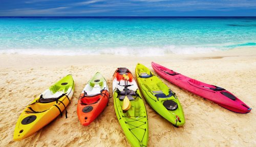 Beach Kayaks Jigsaw Puzzle