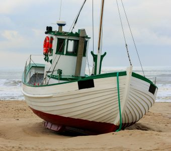 Beached Fishing Boat Jigsaw Puzzle