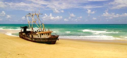 Beached Shipwreck Jigsaw Puzzle