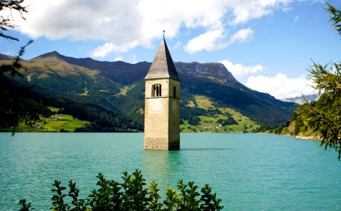 Bell Tower of Reschensee Jigsaw Puzzle
