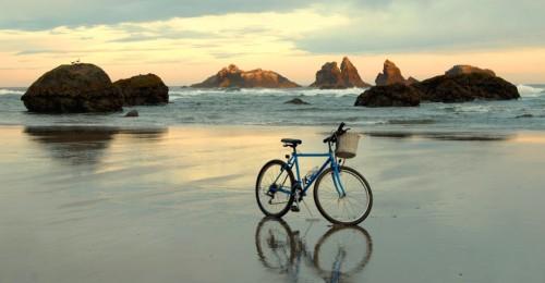 Bike on the Beach Jigsaw Puzzle