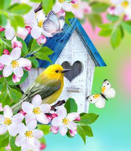 Bird and Butterflies Jigsaw Puzzle