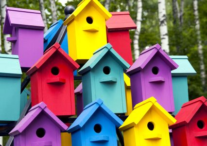 Birdhouse Colors Jigsaw Puzzle