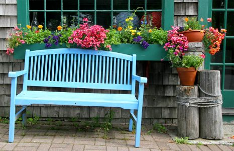 Blue Bench Jigsaw Puzzle