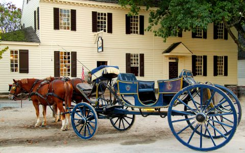 Blue Carriage Jigsaw Puzzle