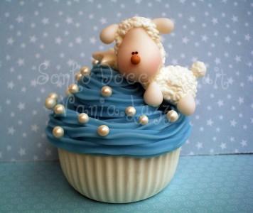 Blue Cupcake Jigsaw Puzzle