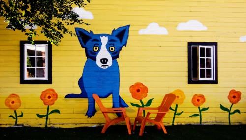 Blue Dog Jigsaw Puzzle