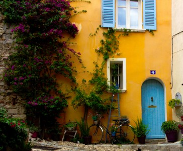 Blue Door and Bike Jigsaw Puzzle