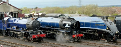 Blue Locomotives Jigsaw Puzzle