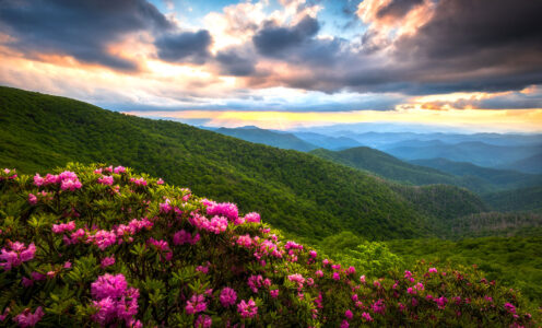 Blue Ridge Sunset Jigsaw Puzzle