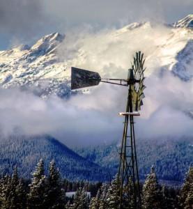 Blue Sky Windmill Jigsaw Puzzle