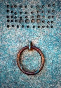Blue Steel Door Jigsaw Puzzle