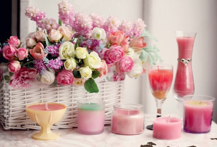 Bouquet and Candles Jigsaw Puzzle