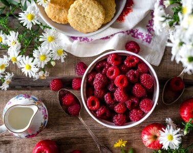 Bowl of Raspberries Jigsaw Puzzle