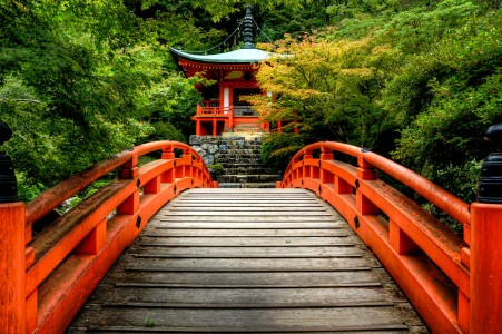 Bridge and Temple Jigsaw Puzzle