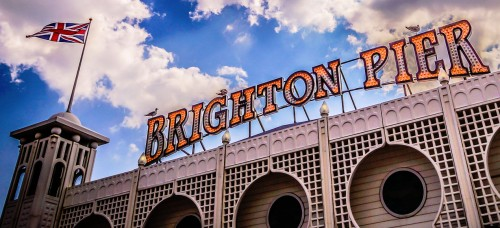 Brighton Pier Sign Jigsaw Puzzle