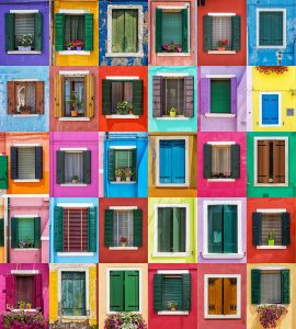Burano Windows Jigsaw Puzzle