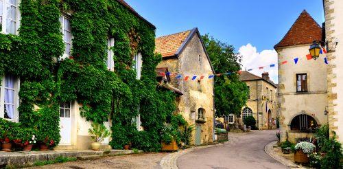 Burgundy Village Jigsaw Puzzle