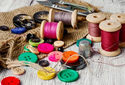 Buttons and Thread Jigsaw Puzzle