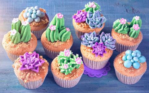 Cactus Cupcakes Jigsaw Puzzle