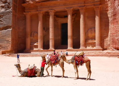 Camels at Petra Jigsaw Puzzle