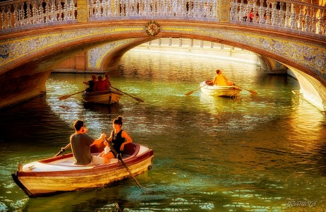Canal Rowers Jigsaw Puzzle