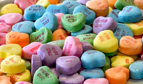 Candy Hearts Jigsaw Puzzle