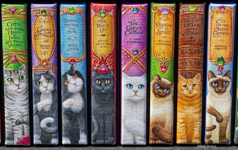 Cat Books Jigsaw Puzzle