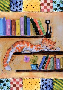 Cat on a Shelf Jigsaw Puzzle