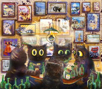 Cats Night Out Jigsaw Puzzle