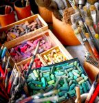 Chalks and Brushes