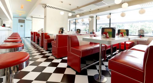 Checkered Diner Jigsaw Puzzle